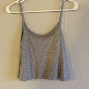 NWOT heather grey crop top